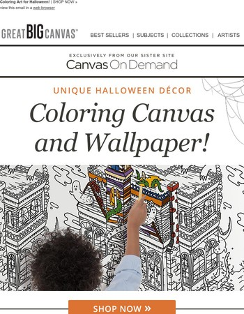Discover Halloween Coloring Wallpaper From Our Friends at Canvas On Demand!