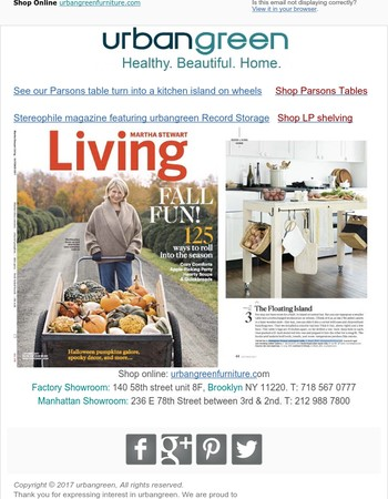 Featured in Martha Stewart Living and Stereophile magazines