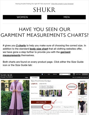 Have You Seen Our Garment Measurements Charts?