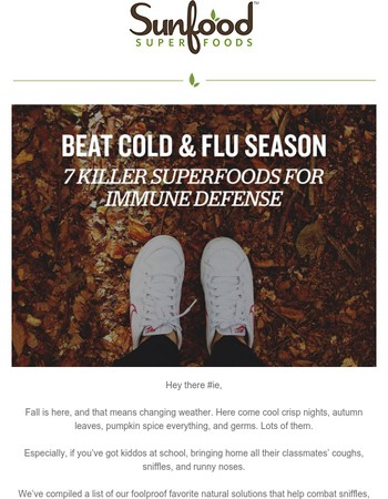 Cold & Flu Be Gone! 7 Foolproof Superfoods You Want To Try
