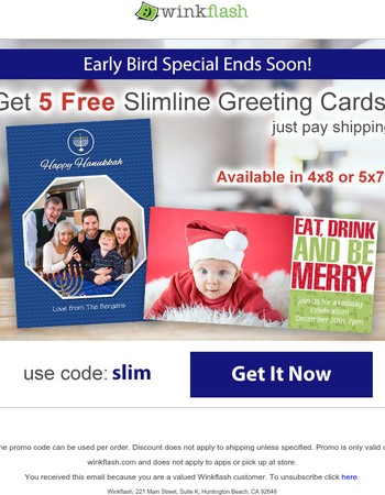 Oops! Did you forget about your 5 Free Cards?