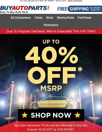 Extended VIP Offer