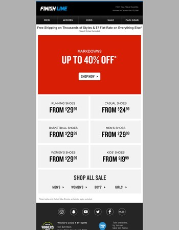 40% off Markdowns. You know you wanna.
