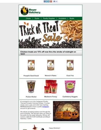 Trick or Treat Sale