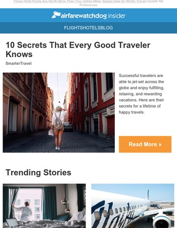 10 Secrets That Every Good Traveler Knows