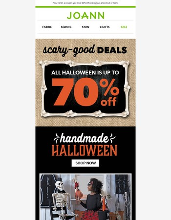 What a Treat! All Halloween is up to 70% off