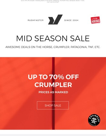 Mid Season Sale - Coupons inside
