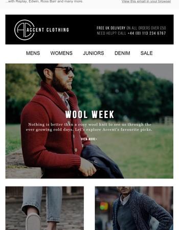 Warm up it's Wool Week...
