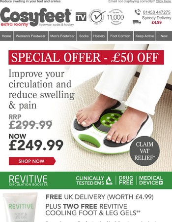 Improve your circulation with the REVITIVE Medic + Free delivery + Free gels