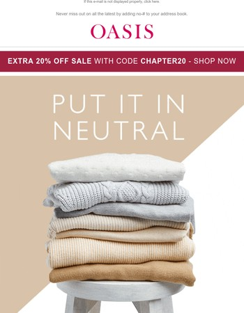 The NEW NEUTRALS are here!