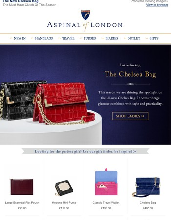 New, Introducing the Chelsea Bag - Vintage Glamour with Style and Practicality