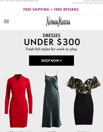 Say yes to dresses under $300