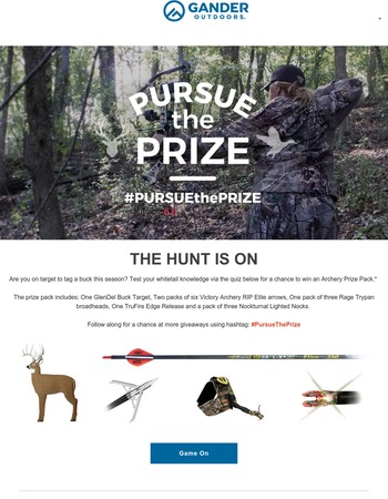 Last change to win an archery prize pack.