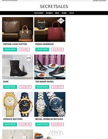 The Best of SecretSales: Louis Vuitton, Prada, Karen Millen, Tom Ford