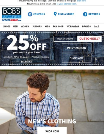 25% OFF Everything You Buy