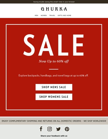 New Styles Added to Sale: Up to 60% off