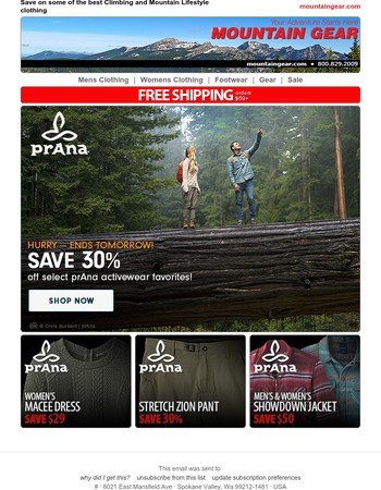 prAna Sale ends soon - save up to 30%