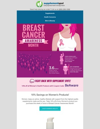 Save 10% on Women's Health Ends Today