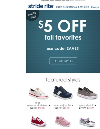 Drop Everything: $5 OFF Fall Favorites