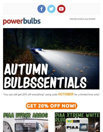 Get 20% Off The Bulbssentials...