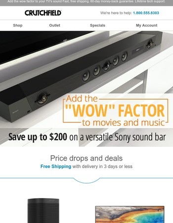 Save up to $200 on a versatile Sony sound bar