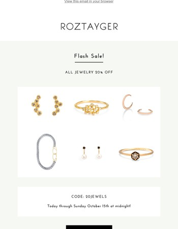 Ends at midnight tonight : Flash Sale - 20% Off Jewelry!