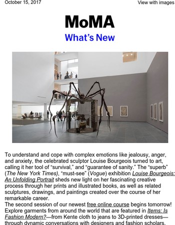 What's New: Louise Bourgeois's Superb Spiders and Fashion in a New Light
