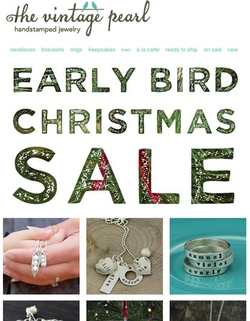 LAST day! Early Bird Christmas Sale!