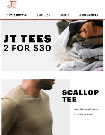 2 Is Better Than 1: 2 For $30 Tees