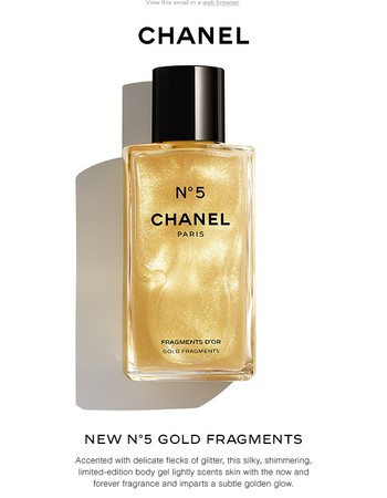 Just arrived: New N°5 GOLD FRAGMENTS