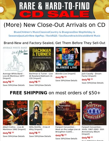 [NEW] (More) Close-Out CDs Just Received