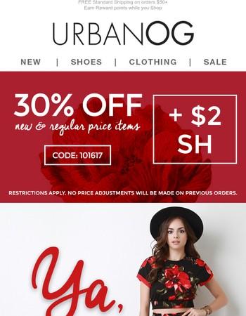 ❤Love, Love, Love! 30% OFF New & Regular price items + $2SH