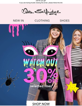 30% off selected items