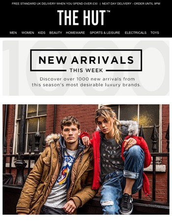 New arrivals from Superdry, LSA, Omorovicza and more