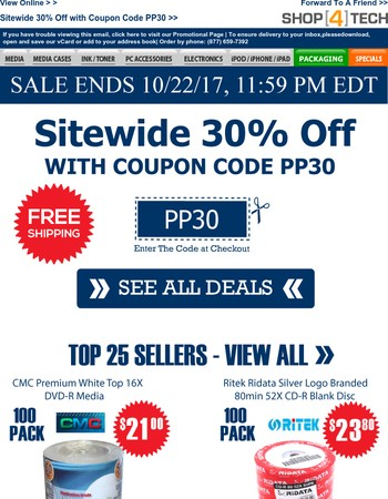 Sitewide 30% Off with Coupon Code PP30