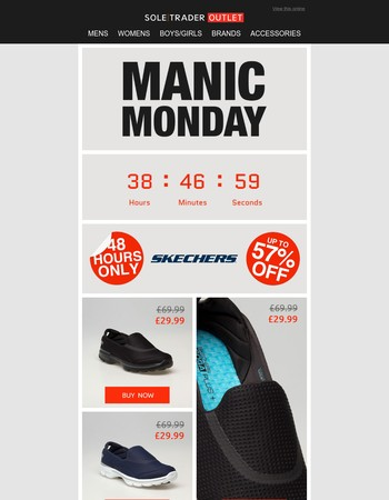 Quick! Skechers from just £29.99