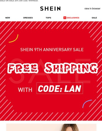 Grab the coupons and FREE SHIPPING is waiting for you!❤