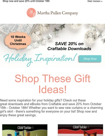 Enjoy Holiday Gift Ideas With Craftable Downloads
