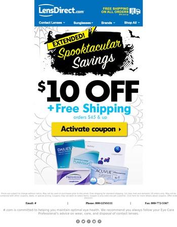 ☠ Boo! $10 coupon E-X-T-E-N-D-E-D