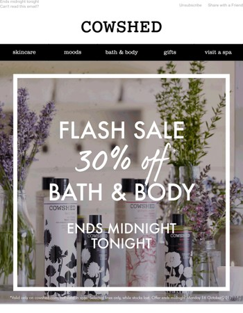 Don't Miss Out: 30% off Bath & Body