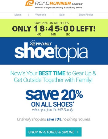 Runner, ONLY 17 Hours Left to Save 20% On Miles of Shoes