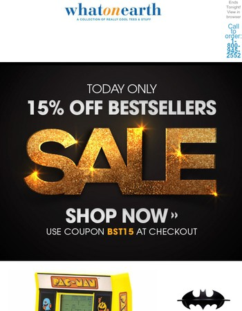 Best Sellers Sale - Today Only!