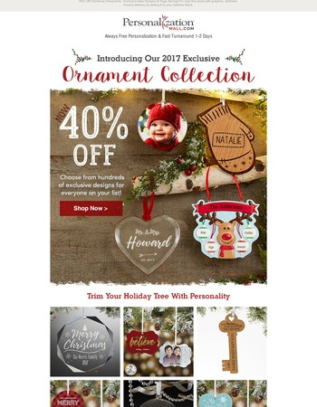 40% Off Exclusive New Christmas Ornaments