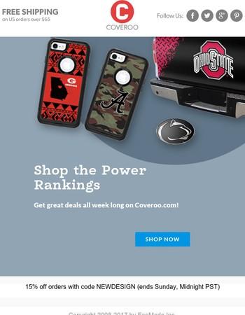 Shop Our NCAA Power Rankings