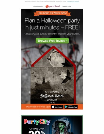 Plan a Halloween party in just minutes!