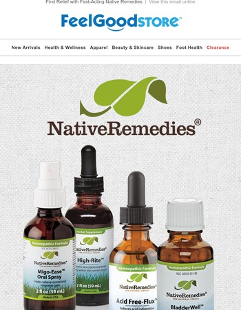 Find Relief with Fast-Acting Native Remedies