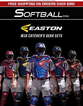 EASTON: Mako-Inspired M10 Catcher's Sets, Adult, Intermediate, Youth