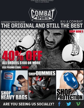 40% Off Orders $100+ Ends @ Midnight!