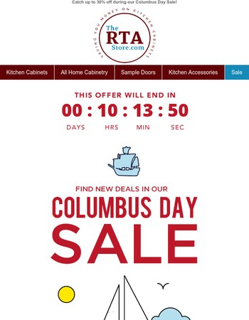Last Call For Columbus Day Savings