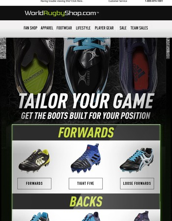 Rugby Boots Built for your Position! Get the Best Boots for you Now!
